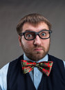 Surprised businessman Royalty Free Stock Photo