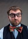 Surprised businessman Royalty Free Stock Photo
