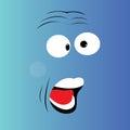 Surprised cartoon face