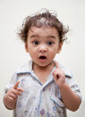 Surprised indian baby boy Stock Photography