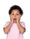 Surprised latin child Royalty Free Stock Photo