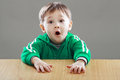 Surprised little boy Royalty Free Stock Photo