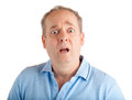 Surprised a man appears to be about something Royalty Free Stock Photos
