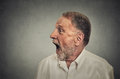 Surprised man with wide open mouth Royalty Free Stock Photo