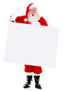 Surprised Santa with a banner Royalty Free Stock Images