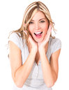 Surprised woman portrait Royalty Free Stock Photos