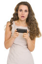 Surprised Woman Reading Sms