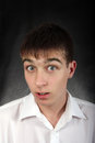 Surprised Young Man Royalty Free Stock Photography