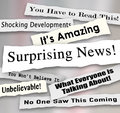 Surprising News Shocking Unbelievable Headlines Ripped Torn News Royalty Free Stock Photo