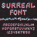 Surreal cube alphabet