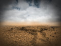 Surreal Desolate Desert Landscape Background Royalty Free Stock Photo