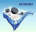 Surreal hockey rink Royalty Free Stock Photo