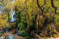 A Surreal Image of the Picturesque Gorman Falls in Texas. Royalty Free Stock Photo