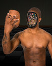 Surreal Robot Man Remove Face