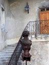 Surrealist sci fi women statue in h r giger museum in gruyeres switzerland may switzerland europe Royalty Free Stock Photos