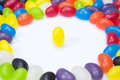 Surrounded by jellybeans Royalty Free Stock Images