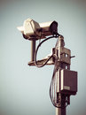 Surveillance camera toned image with vignette Stock Photos