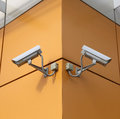 Surveillance cameras Stock Photography
