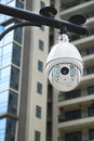 Surveillance cameras in the residences Royalty Free Stock Photography