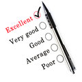 A survey check box questionnaire Royalty Free Stock Photo