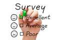 Survey Excellent Evaluation Royalty Free Stock Photo
