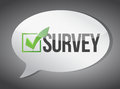 Survey message communication concept illustration design graphic Stock Photos