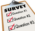 Survey Word Checklist Clipboard Polling Customers Feedback Stock Photography
