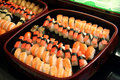 Sushi arrangement Stock Photography
