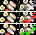 Sushi banners set to create web sites Royalty Free Stock Photography