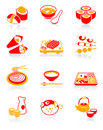Sushi-bar icons | JUICY series Royalty Free Stock Photos