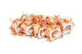 Sushi bonito maki isolated on a white background Royalty Free Stock Photo