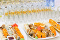 Sushi buffet Royalty Free Stock Photos