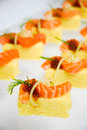 Sushi cake with salmon and red caviar Royalty Free Stock Photography