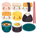 Sushi collection vector file eps Royalty Free Stock Images
