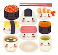 Sushi collection vector file eps Royalty Free Stock Photo