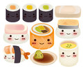 Sushi collection vector file eps Stock Photography