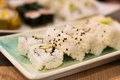 Sushi with crab and avocado Royalty Free Stock Photo