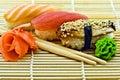 Sushi Eel Tuna and Salmon Royalty Free Stock Photo