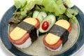 Sushi with egg Royalty Free Stock Photo