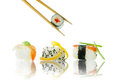 Sushi fish and vegetable snacks Stock Images