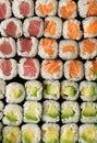 Sushi full frame Royalty Free Stock Photo