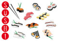 Sushi illustrations Royalty Free Stock Photo