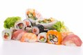 Sushi isolated Stock Images