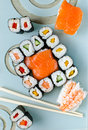 Sushi japanese food and sashimi Stock Image