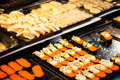 Sushi Japanese set traditional food at restaurant Royalty Free Stock Photo