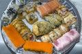 Sushi kitchen of traditional Japanese cuisine Royalty Free Stock Photo