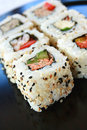Sushi la Californie Rolls Photo stock