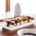 Sushi - Nagiri eel roll Royalty Free Stock Photo