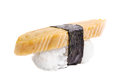 Sushi nigiri with omelette on white background Stock Image
