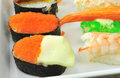 Sushi on the plate Stock Photography